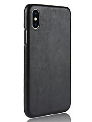 Недорогие -Кейс для Назначение Apple iPhone XS / iPhone XR Рельефный Кейс на заднюю панель Однотонный Твердый Кожа PU для iPhone XS / iPhone XR / iPhone XS Max
