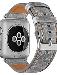 Недорогие -Шерсть теленка Ремешок для часов Ремень для Apple Watch Series 3 / 2 / 1 Коричневый / Серый 23см / 9 дюйма 2.1cm / 0.83 дюймы