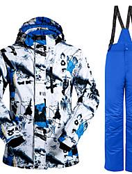 economico -Per uomo Giacca e pantaloni da sci Caldo, Antivento, resistente all'acqua Sci / Escursionismo / Sport vari Poliestere, 100% cotone Set di