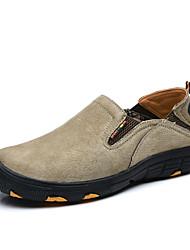 Недорогие -Муж. Комфортная обувь Свиная кожа Осень На каждый день Спортивная обувь Для пешеходного туризма Доказательство износа Серый / Кофейный / Хаки