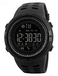 Недорогие -S KMEI Муж. Наручные часы электронные часы Цифровой 30 m Защита от влаги Календарь Повседневные часы силиконовый Группа Цифровой На каждый день Мода Черный - Черный Brown / Gold Золотистый / Красный