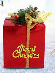 cheap -Gift Boxes Holiday Fabric Square Novelty Christmas Decoration