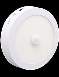 Недорогие -zdm 18w круглый человеческий организм индукционный свет радиолокационный датчик движения инфракрасный светодиодный светильник теплый белый / холодный белый ac85-265v