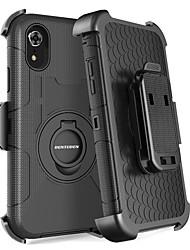 Недорогие -BENTOBEN Кейс для Назначение Apple iPhone XR / iPhone XS Max Защита от удара / Защита от пыли / со стендом Чехол Однотонный / броня Твердый ПК / силикагель для iPhone XR / iPhone XS Max