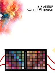 baratos -177 cores Sombra para Olhos / Pós Olhos Maquiagem para o Dia A Dia / Maquiagem de Festa / Maquiagem Esfumada Maquiagem Cosmético / Mate / Brilho