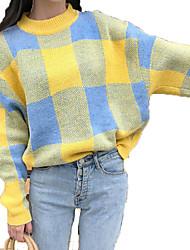 preiswerte -Damen Street Schick Pullover - Schachbrett