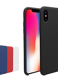 Недорогие -Кейс для Назначение Apple iPhone X / iPhone 8 Матовое Кейс на заднюю панель Однотонный Мягкий ТПУ для iPhone X / iPhone 8 Pluss / iPhone 8