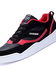 abordables -Homme Chaussures de confort Polyuréthane Automne Décontracté Basket Ne glisse pas Noir / Noir et blanc