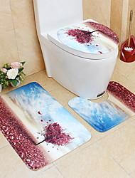 Недорогие -3 предмета На каждый день / Деревенский Коврики для ванны ПВХ Цветочный принт нерегулярный Новый дизайн