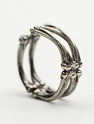 Недорогие -Муж. Старинный Открытое кольцо Серебрянное покрытие Креатив Винтаж Панк Модные кольца Бижутерия Серебряный Назначение Рождество Halloween Регулируется