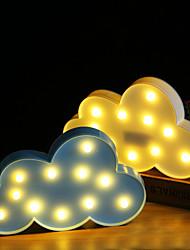 abordables -brelong 3d décoration de chambre enfants nuit lumière noël mariage décoratif - nuage