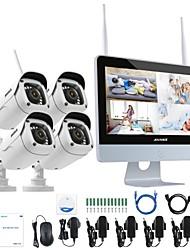 Недорогие -annke® 4ch 1080p wifi nvr система безопасности водонепроницаемая ip-камера без hdd