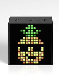baratos -orador do bluetooth do evo do timebox do divoom com o despertador conduzido controlado app