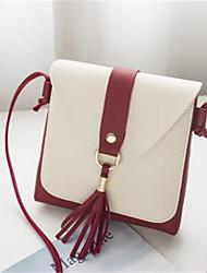 お買い得  -女性用 バッグ PU ショルダーバッグ タッセル ピンク / ライトグレー / Brown