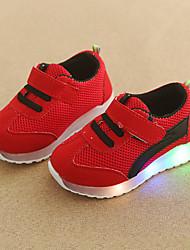 billiga -Pojkar / Flickor Skor Nät Höst vinter Komfort / Lysande skor Sneakers Krok och ögla / LED för Barn / Småbarn Grön / Blå / Rosa