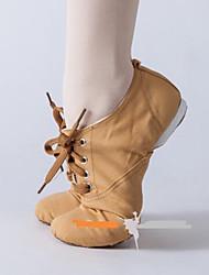 Недорогие -Жен. Обувь для балета Полотно Кроссовки На плоской подошве Танцевальная обувь Черный / Верблюжий