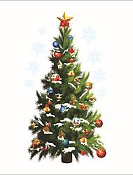 Недорогие -Декоративные наклейки на стены - Простые наклейки / Праздник стены стикеры Рождество / Праздник В помещении / Детская