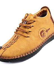 Недорогие -Муж. Комфортная обувь Полиуретан Осень На каждый день Кеды Нескользкий Черный / Желтый / Хаки