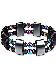 cheap -Men's Obsidian Beads Strand Bracelet / Hologram Bracelet - Creative Trendy, Fashion Bracelet Rainbow For Gift / Daily