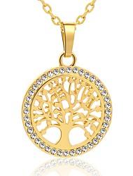 Недорогие -Муж. Ожерелья с подвесками - Позолота дерево жизни Геометрия, Уникальный дизайн Cool, Милый Золотой, Серебряный 55 cm Ожерелье Бижутерия 1шт Назначение Повседневные, Для улицы