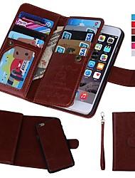 baratos -Capinha Para Apple iPhone XR / iPhone XS Max Carteira / Porta-Cartão / Antichoque Capa Proteção Completa Sólido Rígida couro legítimo para iPhone XS / iPhone XR / iPhone XS Max