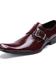 Недорогие -Муж. Обувь для новинок Наппа Leather Наступила зима Деловые / Английский Туфли на шнуровке Винный / Свадьба / Для вечеринки / ужина