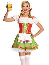 abordables -Tenus de Servante Fête d'Octobre Robes Costume de Cosplay Costume de Soirée Bal Masqué Costume Femme Adultes École secondaire Uniformes de Femme de Ménage Halloween Noël Halloween Carnaval Fête