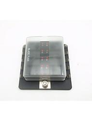 billiga -dc32v 100a bil / skärinsats säkringsbox 10-vägs utgång med leddindikatorlampa (30a per krets) enkel strömingång