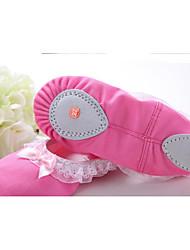 Недорогие -Девочки Обувь для балета Полотно На плоской подошве / Кроссовки На плоской подошве Танцевальная обувь Пурпурный / Розовый