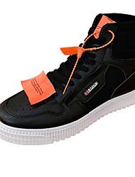 Недорогие -Муж. Комфортная обувь Полотно Весна & осень Кеды Белый / Черный / Хаки