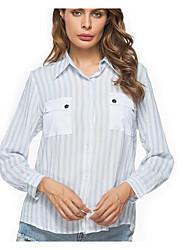 billige -Krave Dame - Stribet Skjorte