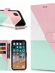 olcso -Case Kompatibilitás Apple iPhone XR / iPhone XS Max Pénztárca / Kártyatartó / Állvánnyal Héjtok Márvány Kemény PU bőr mert iPhone XS / iPhone XR / iPhone XS Max