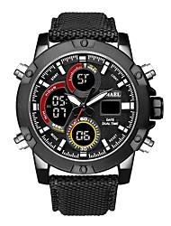 Недорогие -SMAEL Муж. Спортивные часы электронные часы Японский Японский кварц Нейлон Черный / Коричневый 50 m Защита от влаги Календарь Секундомер Аналого-цифровые На каждый день Мода -  / Хронометр