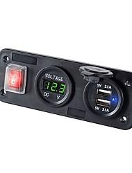 baratos -Carro Carregador Automotivo 2 Portas USB para 5 V