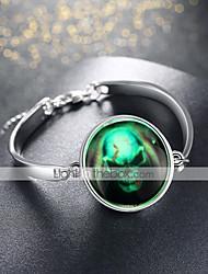 abordables -Femme Le style rétro Bracelets Vintage Bracelet à Pendentif - Plaqué argent Crâne Rétro, Punk Bracelet Argent Pour Soirée Halloween