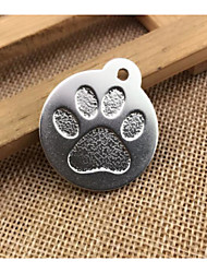cheap Toys & Hobbies-Dogs / Cats Tag Portable / Footprint / Paw / Decoration Solid Colored / Footprint / Paw Alloy Gold / Silver / Red