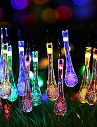 cheap -6.8m String Lights 40 LEDs Warm White / RGB Solar / Cute / New Design Solar Powered 1 set