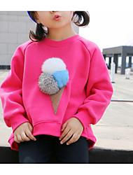 Недорогие -Дети Девочки Однотонный Длинный рукав Блуза