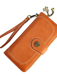 お買い得  -女性用 バッグ PU 財布 ジッパー イエロー / Brown / ワイン