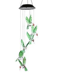 Недорогие -1pc солнечная лампа изменение цвета привело ветер куранты свет наружного дома сад декор солнечной энергии ветер звон