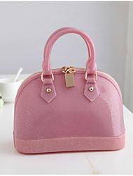 Недорогие -Жен. Мешки ПВХ Сумка-шоппер Молнии Синий / Розовый / Пурпурный