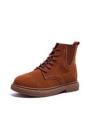 Недорогие -Жен. Армейские ботинки Полиуретан Осень На каждый день Ботинки На плоской подошве Ботинки Черный / Коричневый