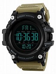 Недорогие -SKMEI Муж. Спортивные часы электронные часы Цифровой 50 m Защита от влаги Календарь С двумя часовыми поясами PU Группа Цифровой Роскошь На каждый день Черный / Синий / Красный - / Хронометр