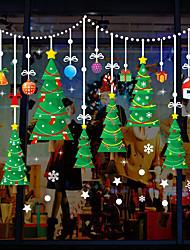 abordables -Film de fenêtre et autocollants Décoration Noël Personnage PVC Autocollant de Fenêtre / Adorable / Drôle