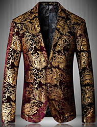 cheap -Men's Party Blazer-Print Notch Lapel / Long Sleeve