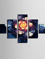 Недорогие -С картинкой Роликовые холсты / Отпечатки на холсте - Абстракция / Цветочные мотивы / ботанический Modern