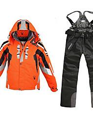 Недорогие -Муж. Лыжная куртка и брюки С защитой от ветра, Водонепроницаемость, Дожденепроницаемый Катание на лыжах / Отдых и Туризм / Сноубординг 100% полиэстер Жакет / Снегурочка Одежда для катания на лыжах