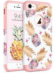 billiga -BENTOBEN fodral Till Apple iPhone 8 / iPhone 7 Stötsäker / IMD / Mönster Skal Växter / Frukt Mjukt PC / Kiselgel för iPhone 8 / iPhone 7
