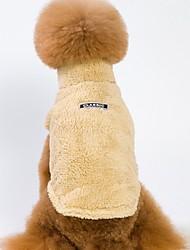 preiswerte -Hunde / Katzen Mäntel Hundekleidung Solide Grau / Braun / Rosa Baumwolle Kostüm Für Haustiere Unisex Sport und Freizeit / Warm-Ups