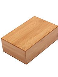 Недорогие -Блок для йоги 1 pcs 23*15*7.5 cm Высокая плотность Бамбук Для Йога / Фитнес / Для спортивного зала Универсальные Кофейный